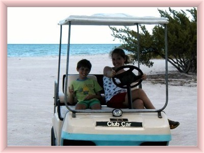 Isla Holbox golf cart